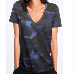 NWT Victoria Secret Pink Blue Camo V Neck